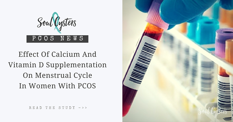 Effect of calcium and vitamin D supplementation on menstrual cycle in women with PCOS