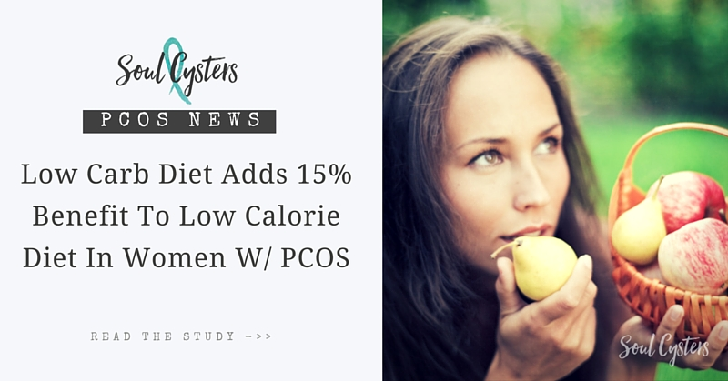 Low Carb Diet adds 15% benefit to low calorie diet in women w/ PCOS